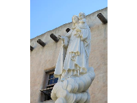 Statue of Mary and infant.