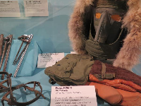 Green wool mittens kept the Seabees hands warm in Antartica.