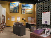 Displays in the museum.