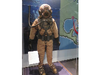 US Navy Mark 5 Deep Sea Suit. These were used between 1916 and 1984 to protect divers from contaminants and cold.