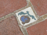 Pomegranate tile on the side patio.