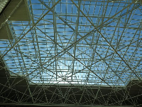 The ceiling of the lobby.