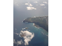View of Makapuu Beach from a United flight.