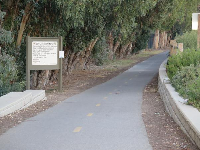 The end of Bob Jones Bike Path, where it reaches Avila Beach and the pirate playground.