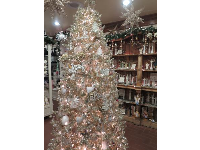 Christmas tree in the shop.