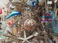 Ocean-themed Christmas tree.