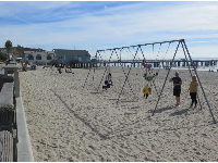 Swings in the sand!