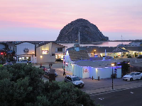 Morro Bay town looks cute at night.