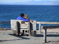Romantic bench.