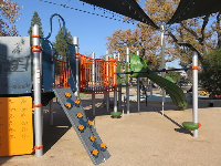 Climbing area on the playground.