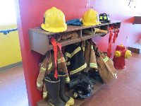 Dress-up as a firefighter.