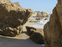 Rock formations on the north end of the beach.