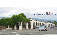 The Spanish Arcade on Ojai Avenue (Highway 150).
