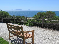 Bench with island view.