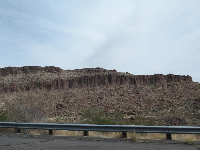 Cool rock formations we saw from Highway 40, east of Kelso Dunes.
