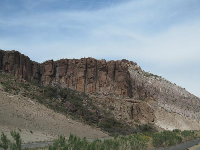 Rock formations seen along Highway 40.