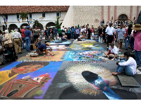 I Madonnari Street Painting Festival at the mission, May 2008. There were some fantastic paintings!