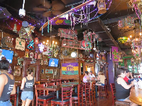 Inside Bourbon Street Cafe.