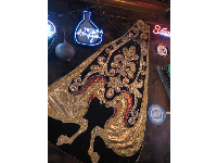Golden horses in Bourbon Street Cafe.