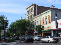 Historic buildings on Front Street.