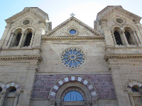 The Cathedral Basilica of St. Francis of Assisi and its lovely rose window.