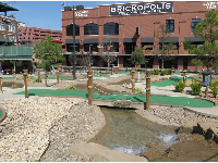 Mini-golf, along the canal.