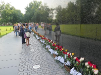 Visitors at the memorial on Father's Day 2018.