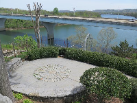 Bluff View Sculpture Garden, with its high perch over the blue river!