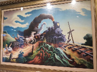 The Wreck of the Ole '97, by Thomas Hart Benton.