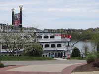 View of Southern Belle from the Riverwalk.