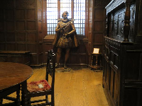 Sir Walter Raleigh, in Wilson Library's Early Carolina Rooms.