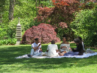 Weekend picnic in the gardens.