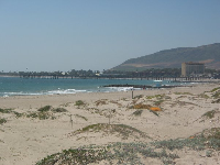 View of Ventura Pier from San Buenaventura Beach.