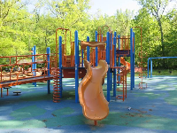 Slide at the playground.