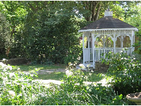 Gazebo in the garden.