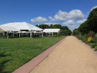 Tents set up for an event.