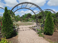 Arches in the rose garden.