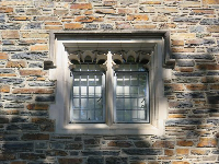 Window and bricks.