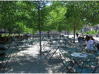 Another area with lots of tables and chairs, like France.