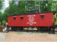 Old Durham Southern train car.