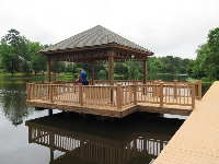 Gazebo and boardwalk.