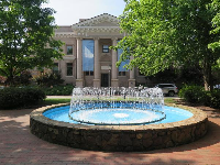 Fountain in front of The Graduate School.