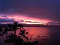 Sunset from the Grand Naniloa Hotel.
