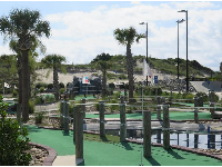 Dunes, palms, and mini golf.