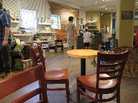 Gift shop with coffee area.