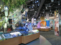 Colorful exhibits.