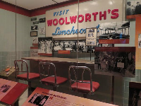 Woolworth's luncheon counter, where activism by students took place.