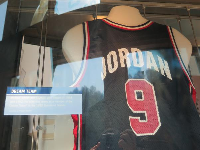 Michael Jordan's dream team jersey in the Barcelona olympics.