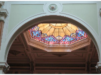 Stained glass ceiling.