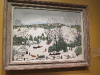 "Out for Christmas Trees, by Anna Mary Robertson ""Grandma"" Moses."